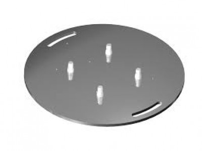 Baseplate round silver